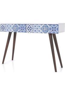 Aparador Azulejo Portugues Pes Palito 2 Gavetas 90Cm - 32481 Sun House