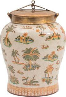 Vaso Decorativo De Porcelana Le Palmier Ii P
