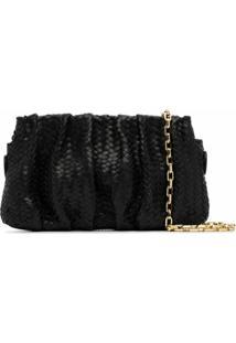 Elleme Vague Woven Leather Shoulder Bag - Preto