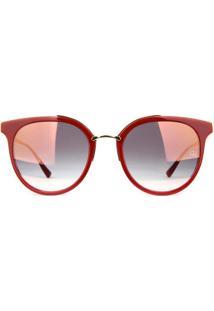 Óculos De Sol Ana Hickmann Ah9267 H01/52 Vinho/Dourado - Kanui