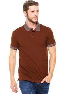 Camisa Polo Colcci Comfort Marrom