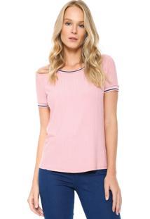 Camiseta Lunender Canelada Rosa