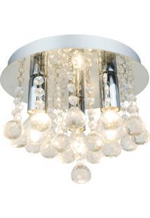 Plafon Premier Iluminação Victory D25 Cristal