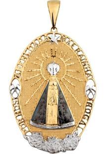 Pingente Nossa Senhora Aparecida Em Ouro 18K Oval - Unissex