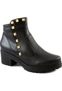 Coturno Com Spikes Numeração Especial Sapato Show 1430769