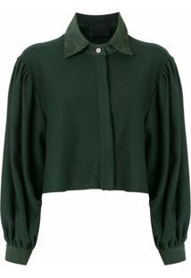 Andrea Bogosian Blusa De Moletom Rahal Cropped - Verde