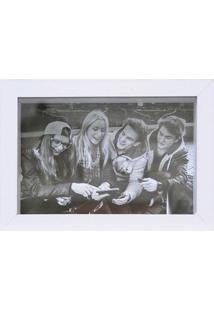 Porta Retrato Em Madeira Caixa Liso 13X18Cm Branco