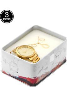 Kit Relógio Condor Co2036Kom/K4D Dourado