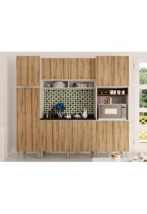 Cozinha Com Balcão Aéreo 2 Paneleiros Essence Desira/Trufa-Aroma