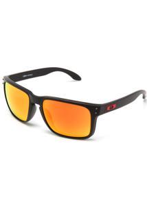Óculos De Sol Oakley Holbrook Xl Preto/Laranja