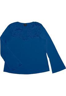 Blusa Feminina Rovitex Plus Azul