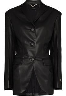Anouki Single-Breasted Blazer Jacket - Preto