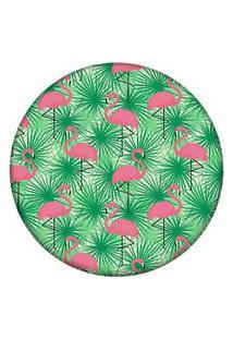 Tapete Love Decor Redondo Wevans Multi Flamingos 84Cm
