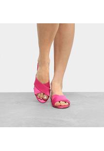 Rasteira Drezzup Tiras Cruzadas - Feminino-Pink
