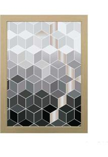 Quadro Decorativo Geométrico 28X38Cm Zebrano Infinity
