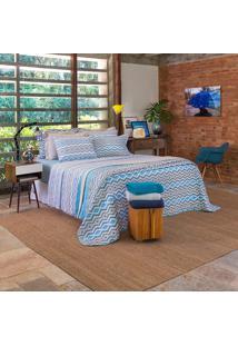 Kit Cobreleito 180 Fios Unique Phuket Casal - Santista - Azul