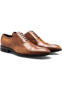 Sapato Social Brogan Oxford Cadis Tanger Masculino - Masculino-Marrom Claro