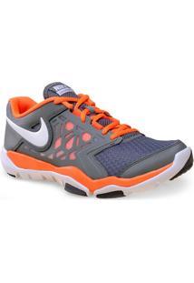 Tenis Masc Nike 749165-003 Flex Supreme Tr 4 Grafite/Laranja