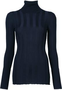 Derek Lam Camisa Polo Mangas Longas - Azul