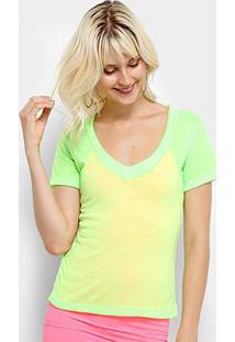 Camiseta Flora Zuu Neon - Feminino-Verde