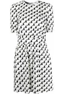 Love Moschino Vestido Com Estampa - Branco