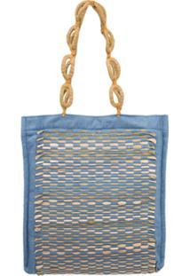 Nannacay Blusa 'Lisa Aster' - Azul