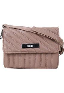 Bolsa Santa Lolla Mini Bag Matelassê Feminina - Feminino-Bege