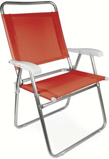 Cadeira Master Plus Fashion Alumínio Coral Mor