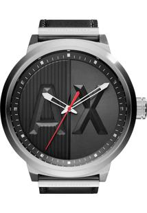 d96c403c059 Eclock. Relógio Aço Couro Analógico Tamanho Grande Masculino Giorgio Armani  Technos Clock Fivela Ax1361 0pn Exchange