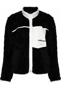 Ambush Jaqueta De Lã Com Estampa De Logo - Preto