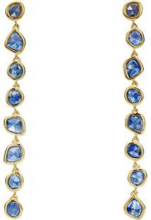 Monica Vinader Gp Siren Mini Nugget Cocktail Kyanite Earrings - Dourado