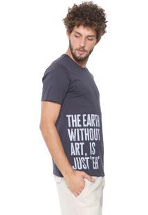 Camiseta Malwee Lettering Grafite
