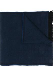 Dell'Oglio Echarpe Com Padronagem Trançada - Azul