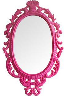 Espelho Oval Giant Princess- Espelhado & Pink- 73X44Btc Decor