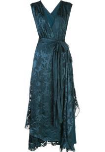 Dvf Diane Von Furstenberg Wet Look Wrap Dress - Azul