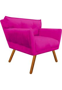 Poltrona Decorativa Anitta Suede Pink - D'Rossi
