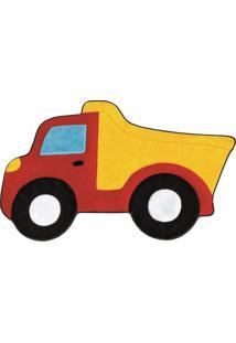 Tapete Formato Premium Big 1,32Mx86Cm Caminhão Caçamba Vermelho Guga Tapetes