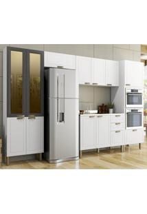 Cozinha Completa 6 Peã§As Americana Multimã³Veis 5667Mf Branco/Grafite - Branco/Incolor - Dafiti