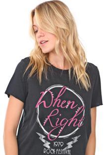 Camiseta Only Reta Dhen Right Preta