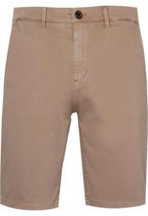 Bermuda Dudalina Sarja Stretch Essentials Masculina (P19/V19 Marrom Claro, 44)