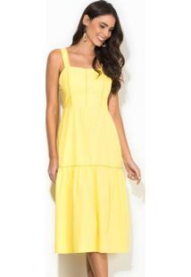 Vestido Midi Amarelo
