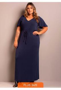 Vestido Longo Comfy Azul