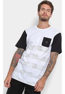 Camiseta Rusty Esp Combust Masculina - Masculino-Branco