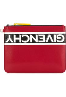Givenchy Reverse Logo Large Pouch - Vermelho