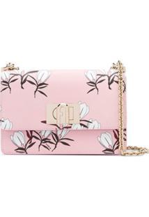 Furla Bolsa Tiracolo Com Estampa Floral - Rosa