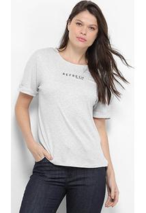 Camiseta T-Shirt Lança Perfume Refresh Feminino - Feminino-Bege