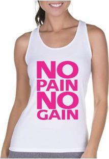 Regata Criativa Urbana Cavada Fitness Pain - Feminino