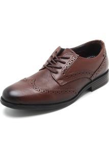 Sapato Couro Pegada Liso Marrom