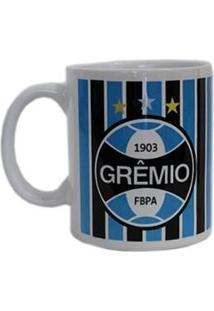 Caneca Cerâmica Grêmio Tricolor Universo Da Bola - Unissex