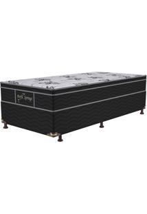Cama Box Solteiro Springs Especial – Probel - Preto / Branco